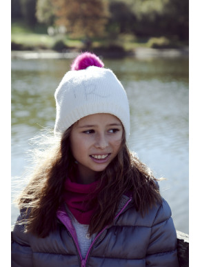 Pipolaki Mini Foxy Girl Fur Bobble Hat