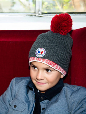 Pipolaki Unai Boy bobble hat, warmth thanks to its full fleece lining