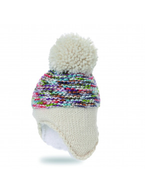 Pipolaki Tesoro Baby Bobble Hat with earmuffs