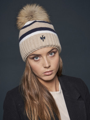 Pipolaki Messina Fur Bobble Hat