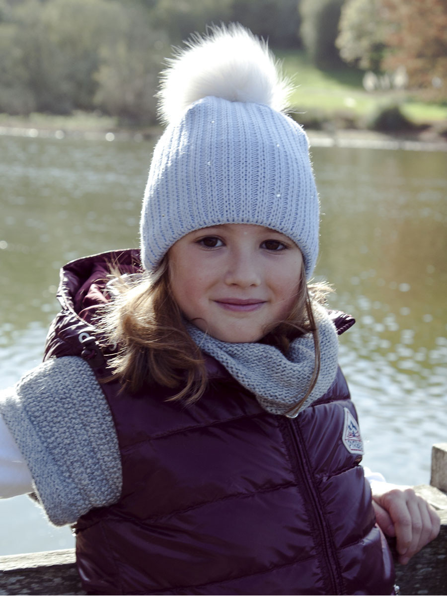 Pipolaki Mini Merry Girl Fur Bobble Hat
