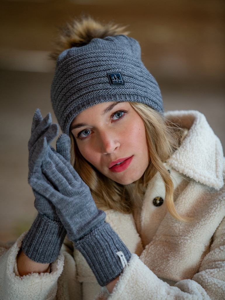 Made in France Aimee woolen hat and gloves gift box - Pipolaki